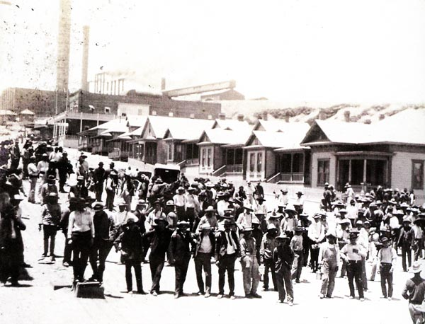 cananea men This photograph is part of the cananea,  mexico located just across the arizona border showing striking miners, armed men, demonstrations, the mine site,.