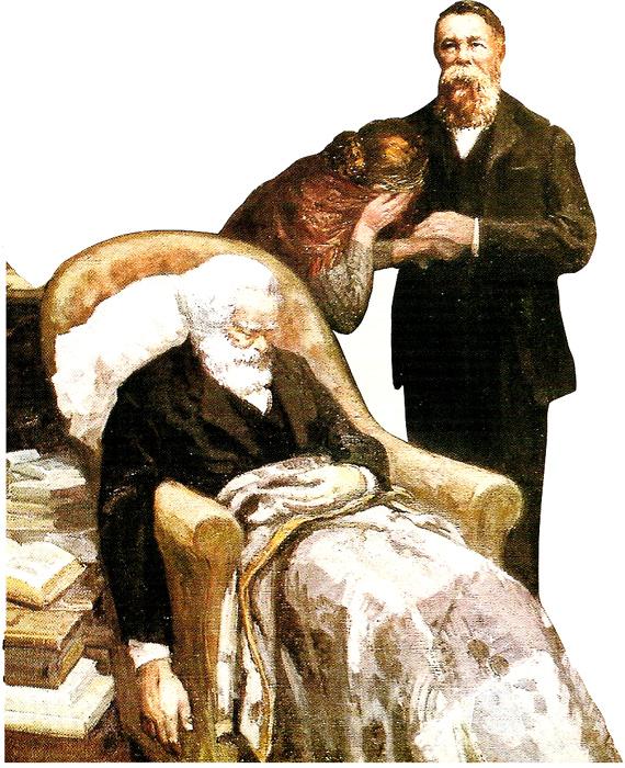 о Марксе и Энгельсе Карл Маркс умер 14 Март 1883