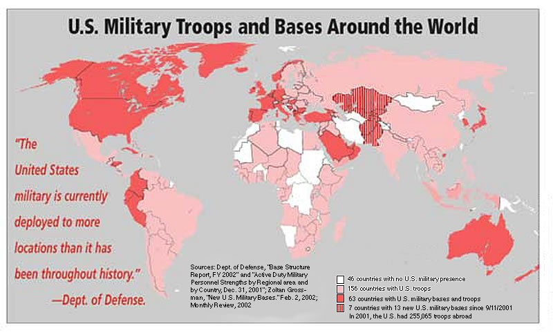 Us Military: Map Of Us Military Bases