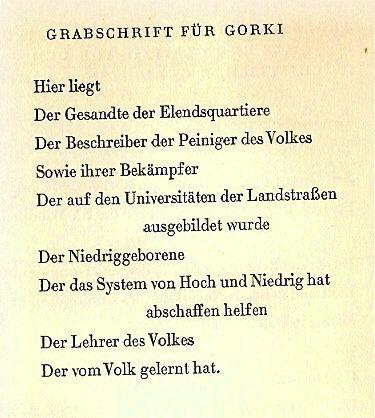 Bertolt Brecht Gedichte